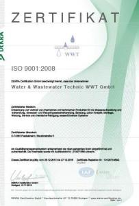 Сертификат производителя ISO 2008